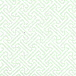 6890WP-03 JAVA JAVA Celadon On White Quadrille Wallpaper