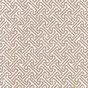 622-30 JAVA PETITE Camel Ii On White Quadrille Wallpaper