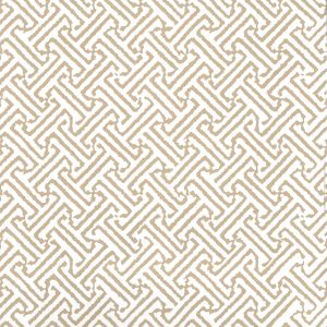 622-25 JAVA PETITE Taupe On White Quadrille Wallpaper