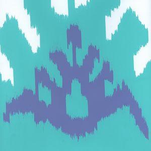 302830W-08WP KAZAK Aqua Lilac Quadrille Wallpaper