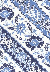 7810WP-05WWP LIM DIAGONAL Multi French Blue Navy Quadrille Wallpaper