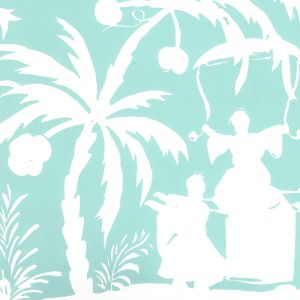 6015-02WP LYFORD BACKGROUND Light Turquoise On Almost White Quadrille Wallpaper