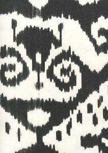 306053W MALAYA Black On Almost White Quadrille Wallpaper