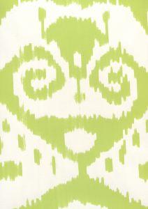 306049W MALAYA Jungle Green On Almost White Quadrille Wallpaper