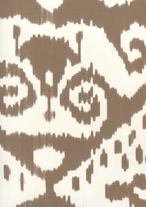 306052W MALAYA New Brown On Almost White Quadrille Wallpaper