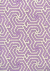 2520-04OWP MAZE REVERSE TWO COLORS Lilac Purple Quadrille Wallpaper