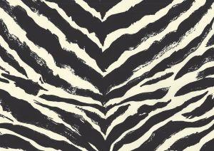 2110-10WP NAIROBI Black On Off White Quadrille Wallpaper