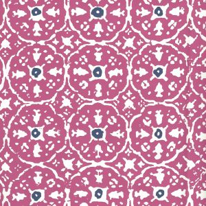 149-34WP NITIK II Magenta Navy On Almost White Quadrille Wallpaper