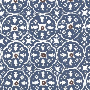 149-57WP NITIK II Navy Brown On Almost White Quadrille Wallpaper
