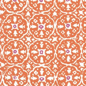 149-61WP NITIK II Orange Magenta On Almost White Quadrille Wallpaper