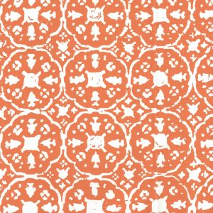 149-45WP NITIK II Orange On Almost White Quadrille Wallpaper
