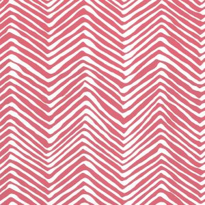 AP303-07PV PETITE ZIG ZAG Watermelon On White Vinyl Quadrille Wallpaper
