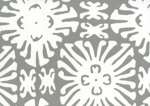 2485WP-06 SIGOURNEY REVERSE SMALL SCALE Gray On White Quadrille Wallpaper