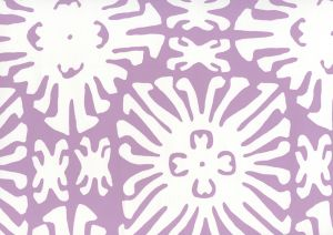 2485WP-05 SIGOURNEY REVERSE SMALL SCALE Lavender On White Quadrille Wallpaper