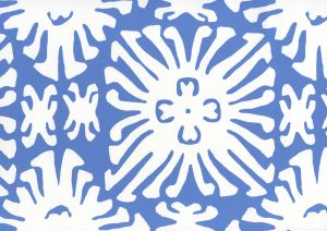2485WP-13 SIGOURNEY REVERSE SMALL SCALE Royal Blue On White Quadrille Wallpaper