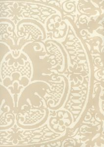 352000W-02OWP VENETO Beige On Off White Quadrille Wallpaper
