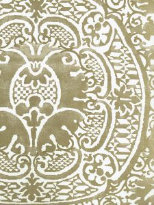352000W-10OWP VENETO Gold Metallic On Off White Quadrille Wallpaper