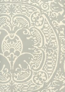 352000W-03OWP VENETO Gray On Off White Quadrille Wallpaper