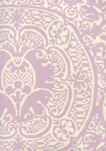 352000W-25OWP VENETO Soft Lavender On Off White Quadrille Wallpaper
