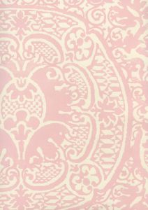 352000W-22OWP VENETO Soft Pink On Off White Quadrille Wallpaper