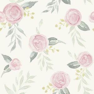 MK1125 Watercolor Roses York Wallpaper