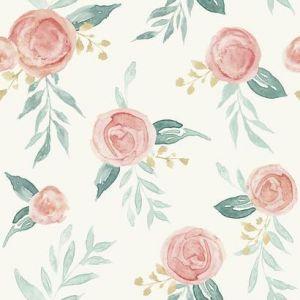 MK1126 Watercolor Roses York Wallpaper