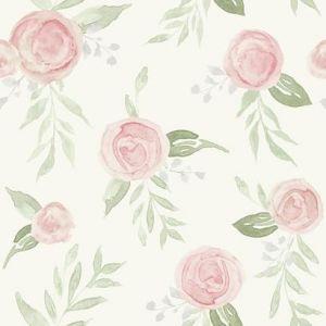 MK1128 Watercolor Roses York Wallpaper