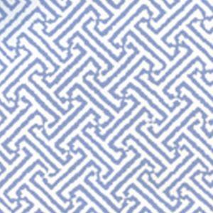 3080-06WP JAVA JAVA French Blue On White Quadrille Wallpaper