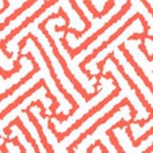 6620-06AWP JAVA GRANDE New Shrimp On White Quadrille Wallpaper