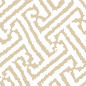 6620-09AWP JAVA GRANDE Tan On White Quadrille Wallpaper