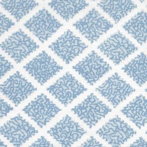 JF01000-03 SHANGHAI Windsor Blues on White Quadrille Fabric