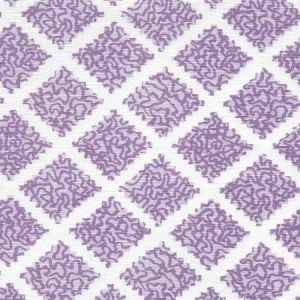 JF01000-05 SHANGHAI Lilacs on White Quadrille Fabric