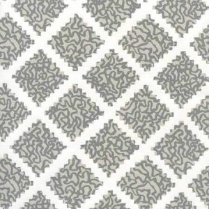 JW01000-10WP SHANGHAI Dark Greys On White Quadrille Wallpaper