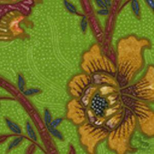 6060-06 LIM BAMBOO II Jungle Green Multi Quadrille Fabric