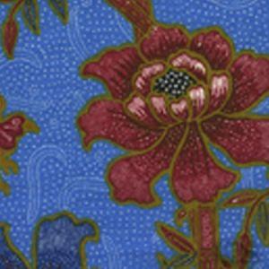6060-08 LIM BAMBOO II Pacific Blue Multi Quadrille Fabric