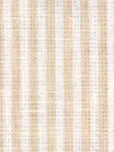 6930W-01 LULU STRIPE Beige on White Linen Quadrille Fabric