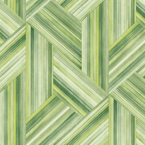 LW50104 Geo Inlay Chartreuse and Basil Seabrook Wallpaper