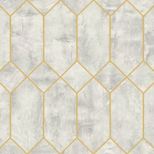 LW51610 Geo Faux Silver Birch and Metallic Gold Seabrook Wallpaper