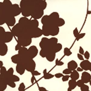 4100-01WP LYSETTE Brown On Off White Quadrille Wallpaper