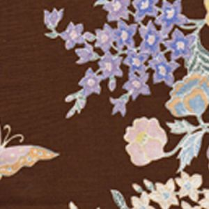 6310-04 MACAO II Brown Multi Quadrille Fabric