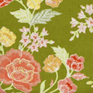 6310-03 MACAO II Jungle Green Multi Quadrille Fabric