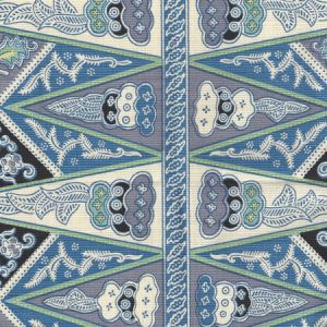 3060-03 MALAY STRIPE French Blue Quadrille Fabric