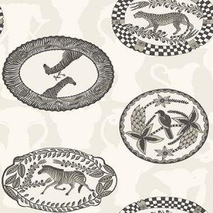 109/4019-CS MATRINAH Black White Cole & Son Wallpaper