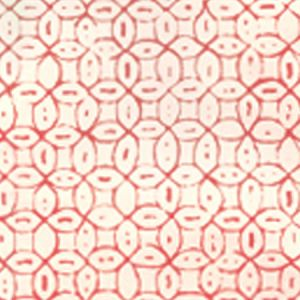 6450-09WP MELONG BATIK Salmon On Off White Quadrille Wallpaper