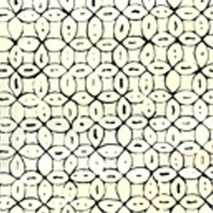6450-10WP MELONG BATIK Black On Off White Quadrille Wallpaper