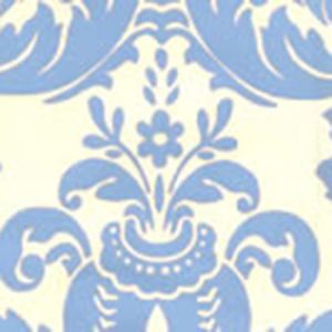 302157W MONTY China Blue On Off White Quadrille Wallpaper