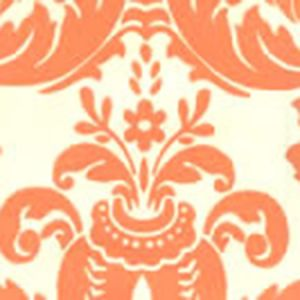 302164W MONTY Monty Terracotta On Off White Quadrille Wallpaper