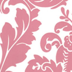 302163W MONTY Dark Pink On Almost White Quadrille Wallpaper
