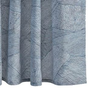 MSC003SHONA BURNETT Navy Schumacher Shower Curtain