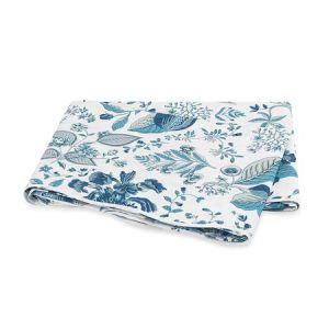 MSC006KFLAPH POMEGRANATE Prussian Blue Schumacher King Flat Sheet
